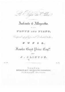 Le Bijou du Salon for Flute and Piano, Op.53: Le Bijou du Salon for Flute and Piano by John Clinton