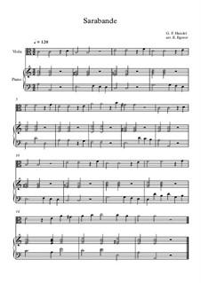 10 Easy Classical Pieces For Viola & Piano Vol.5: Sarabande by Wolfgang Amadeus Mozart, Franz Schubert, Antonín Dvořák, Georges Bizet, Georg Friedrich Händel, Giuseppe Verdi, Pyotr Tchaikovsky, Émile Waldteufel, Adolphe Adam, Sebastián Yradier