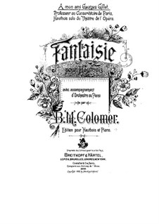 Fantasia for Oboe and Piano: Fantasia for Oboe and Piano by Blas María de Colomer