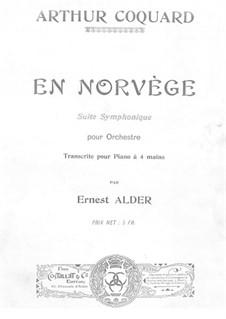 En Norvège. Symphonic Suite: Version for piano four hands by Arthur Coquard