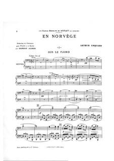 En Norvège. Symphonic Suite: Movement I, for piano four hands by Arthur Coquard