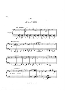 En Norvège. Symphonic Suite: Movement III, for piano four hands by Arthur Coquard