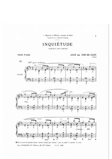 Inquiétude. Romance without Words: Inquiétude. Romance without Words by José de Cor-de-Lass