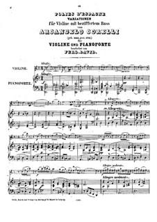 Sonata No.12 'La Folia': Arrangement for violin and piano by Arcangelo Corelli