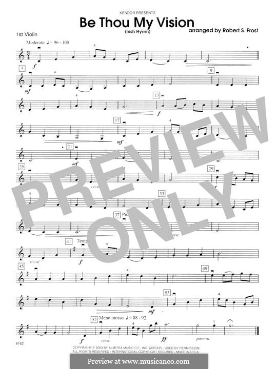 Be Thou My Vision (Printable scores): 1st Violin part by folklore