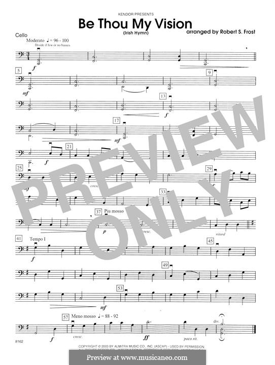 Be Thou My Vision (Printable scores): Cello part by folklore