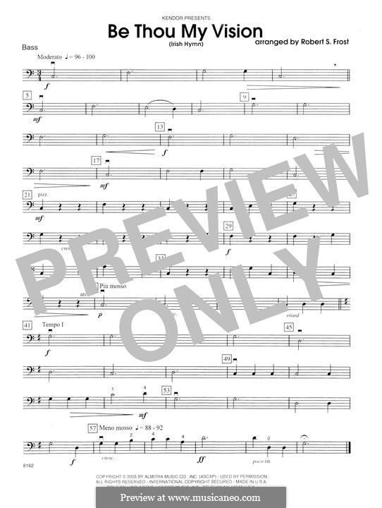 Be Thou My Vision (Printable scores): Bass part by folklore