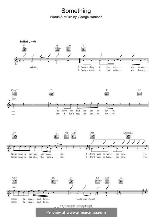 Something (The Beatles): For keyboard by John Lennon, Paul McCartney