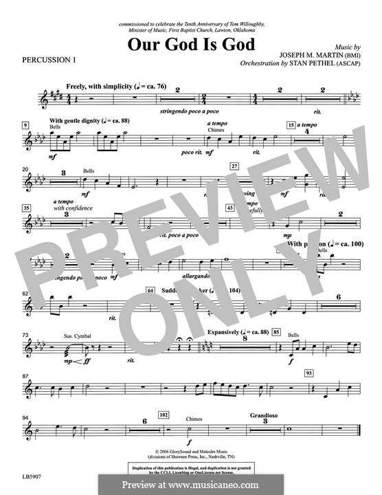 Our God Is God: Percussion 1 part by Joseph M. Martin