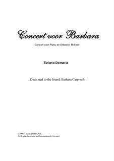 Concert voor Barbara: Orchestra's conductor score by Tormy Van Cool