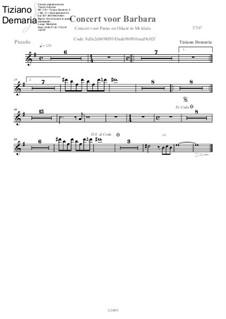 Concert voor Barbara: Flute piccolo part by Tormy Van Cool