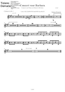 Concert voor Barbara: Clarinet in Bb part by Tormy Van Cool