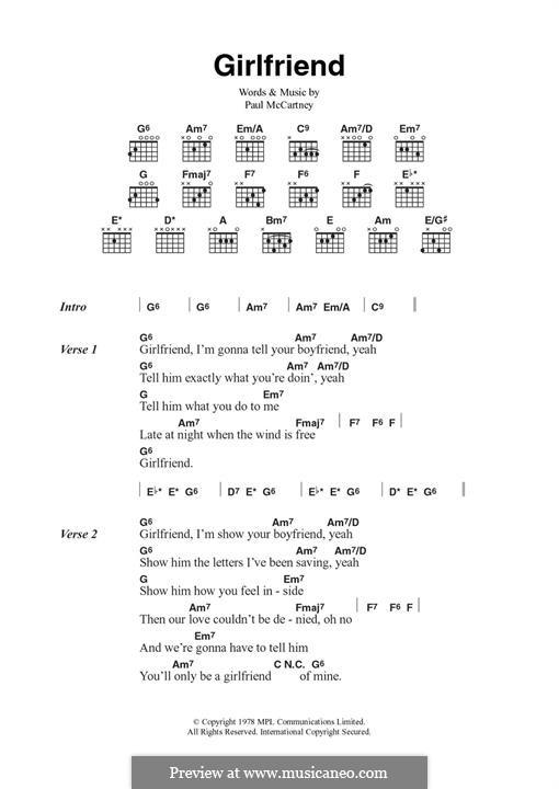 Girlfriend: For guitar by Paul McCartney