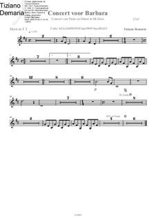 Concert voor Barbara: French horn II part by Tormy Van Cool