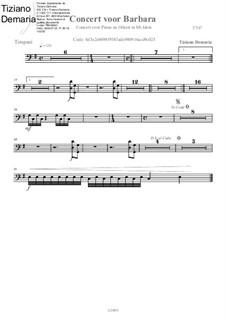 Concert voor Barbara: Timpani part by Tormy Van Cool