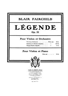 Légende for Violin and Orchestra, Op.31: Légende for Violin and Orchestra by Blair Fairchild