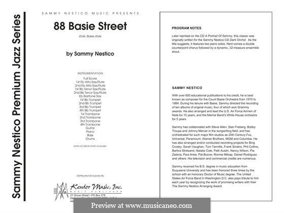 88 Basie Street: Full Score by Sammy Nestico