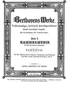String Quintet No.3 in C Minor, Op.104: Full score by Ludwig van Beethoven