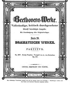 König Stephan (King Stephen), Op.117: Full score by Ludwig van Beethoven
