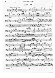 Trio for Clarinet, Cello and Piano No.4 'Gassenhauer' , Op.11: Cello part by Ludwig van Beethoven
