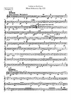 Missa Solemnis, Op.123: Trumpets I, II parts by Ludwig van Beethoven