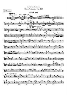 Missa Solemnis, Op.123: Trombones parts by Ludwig van Beethoven
