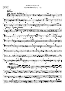 Missa Solemnis, Op.123: Timpani part by Ludwig van Beethoven