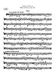 Missa Solemnis, Op.123: Viola part by Ludwig van Beethoven