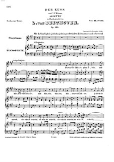 Der Kuss (The Kiss), Op.128: For voice and piano by Ludwig van Beethoven