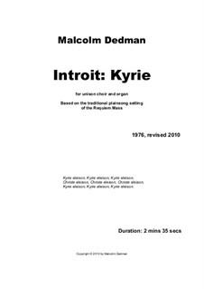 Introit. Kyrie, MMC5: Introit. Kyrie by Malcolm Dedman