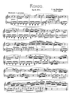 Two Rondos for Piano, Op.51: Rondo No.1 (with fingering) by Ludwig van Beethoven