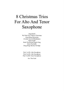 8 Christmas Trios: For alto and tenor saxophone by folklore