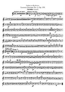 Leonore. Overture No.1, Op.138: Trumpets I, II parts by Ludwig van Beethoven