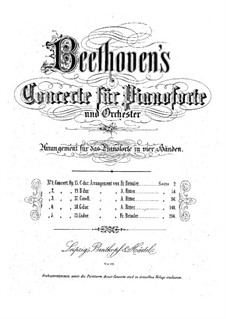 Concerto for Piano and Orchestra No.1, Op.15: Movement I, for piano four hands by Ludwig van Beethoven