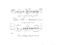 Quintet for Piano and Winds in E Flat Major, Op.16: Version for piano four hands by Ludwig van Beethoven
