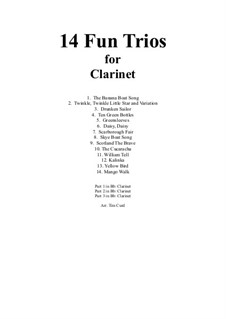 14 Fun Trios: For clarinet by folklore