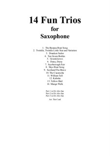 14 Fun Trios: For saxophone by folklore