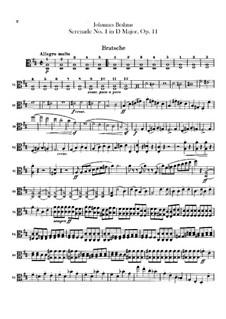 Serenade No.1 in D Major, Op.11: Viola part by Johannes Brahms