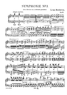 Symphony No.3 'Eroica', Op.55: Version for piano by Ludwig van Beethoven