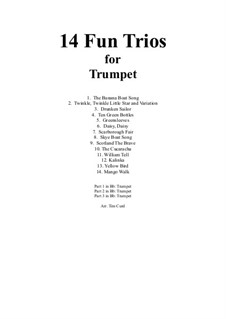14 Fun Trios: For trumpet by folklore