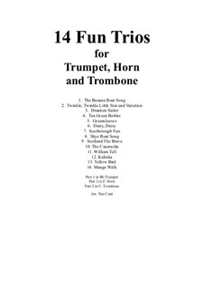 14 Fun Trios: For trumpet, french horn and trombone by folklore