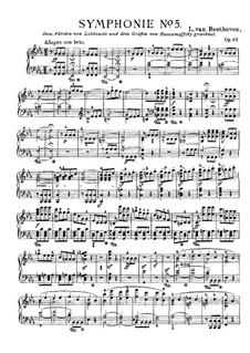 Complete Symphony: Version for piano by Singer by Ludwig van Beethoven