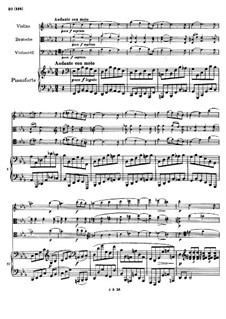 Piano Quartet No.1 in G Minor, Op.25: Movement III by Johannes Brahms