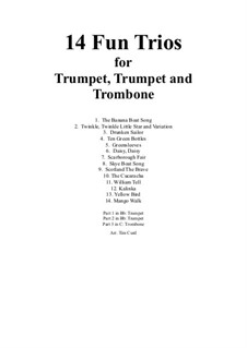 14 Fun Trios: For trumpet, trumpet and trombone by folklore
