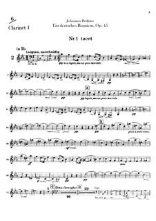 A German Requiem, Op.45: Clarinets parts by Johannes Brahms
