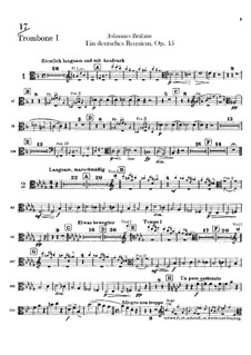 A German Requiem, Op.45: Trombones and tuba parts by Johannes Brahms