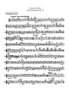Song of Destiny , Op.54: Trumpets parts by Johannes Brahms