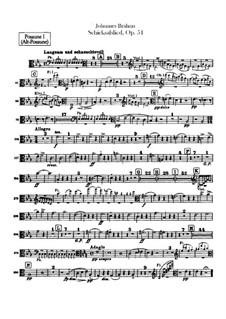 Song of Destiny , Op.54: Trombones parts by Johannes Brahms
