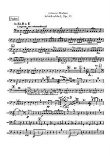 Song of Destiny , Op.54: Timpani part by Johannes Brahms