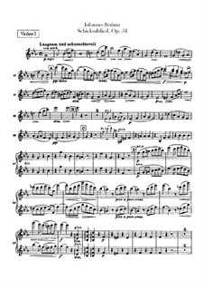 Song of Destiny , Op.54: Violins parts by Johannes Brahms